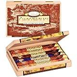 Rausch Chocoholics Holzkiste mit 12 Sticks, Edel-Vollmilch Schokolade, 4 Sorten, 480 g, 1er Pack (1 x 480 g)