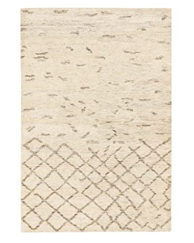 Hand-Knotted Royal Maroc Wool Rug, Cream, 4' x 5' 10""