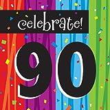 Creative Converting Milestone Celebrations Luncheon Napkins, 16-Count, Celebrate 90