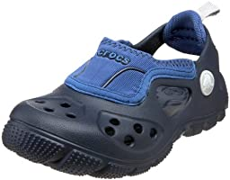 Crocs Micah Sport Sandal (Toddler/Little Kid),Navy/Sea Blue,8-9 M US Toddler