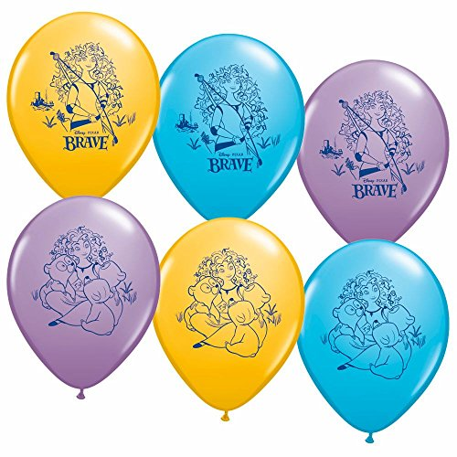 Disneys Brave Party Supplies Helium Latex Balloons 6ct