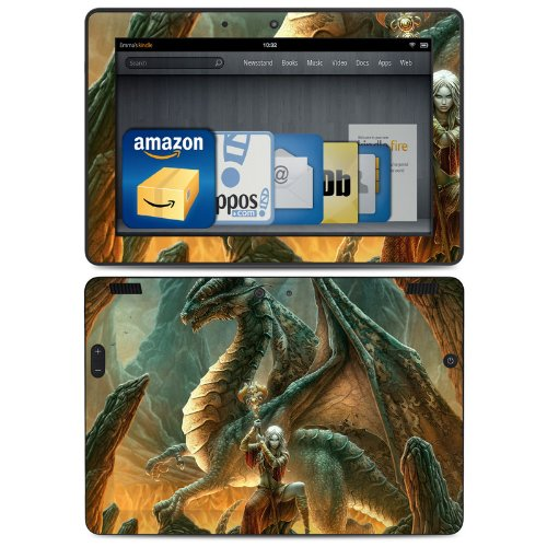 Dragon Mage Design Protective Decal Skin Sticker (High Gloss Coating) For Amazon Kindle Fire Hdx 8.9 Inch (Released 2013) Ebook Reader