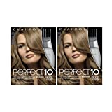 Clairol Perfect 10 By Nice 'N Easy Hair Color Kit (Pack of 2), 007 Dark Blonde Color, Includes Comb Applicator, Lasts Up To 60 Days (Color: 007 Dark Blonde, Tamaño: Pack of 2)