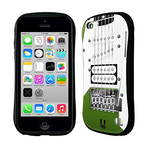 Head Case Designs Apple Green Electric Guitar Hybrid Gel Back Case For Apple Iphone 5C