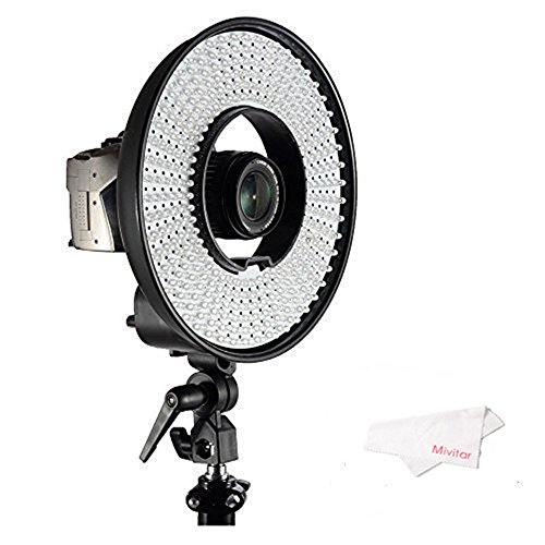 Falcon-Eyes-DVR-300DVC-Dimmable-300-LED-Ring-Panel-Video-Light-with-3000-7000K-Color-Temperature