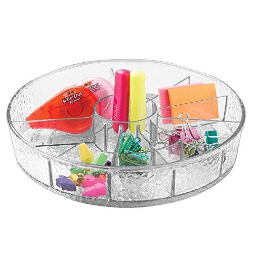 Mdesign lazy susan turntable office craft supplies desk - Lazy susan desk organizer ...