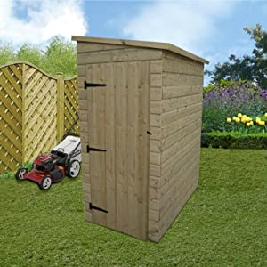 wooden garden shed 5x3 pressure treated pent shed tongue