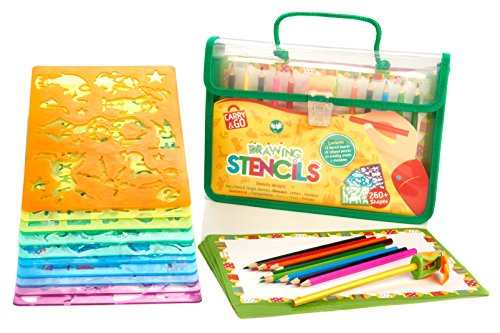 Drawing stencils art set for kids by creativ 39 craft more for Arts and crafts sets for toddlers