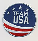 """Team USA Embroidered Iron-On Patch Size 2 3/4"""". USA Winter Olympics - USA World Cup. Great Gift For Men & Women, Him or Her"""