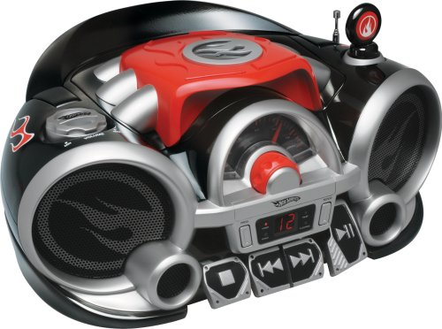 Emerson Radio Hot Wheels HW200 Rock N' Race Boombox (Red/Black)