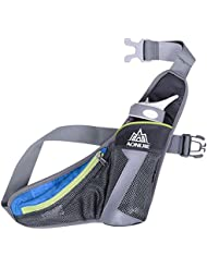 WATERFLY Running Belt Waist Bag With Water Bottle Holder For Phone 5.5 Inch IPhone 6 Plus / Outdoor Sports Pack...