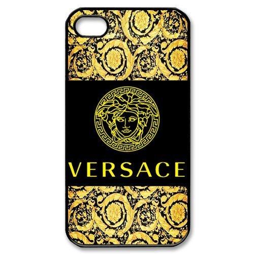 Custom Cover Versace Logo for iPhone 4/4S Hard Plastic Case