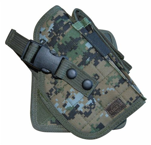 Airsoft Woodland Digital Camouflage MOLLE Cross 