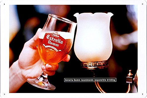 tin-sign-metal-poster-plate-8x12-of-estrella-damm-beer-toast-by-food-beverage-decor-sign