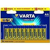 Varta Longlife Piles Alcalines AA LR06 x 10