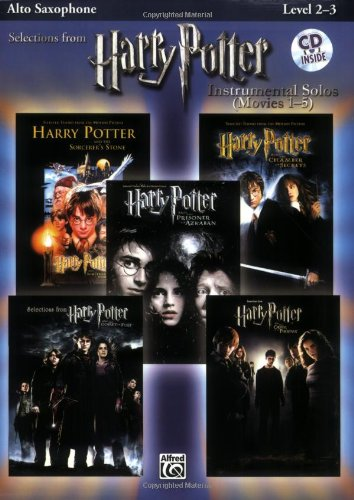 Harry Potter, Instrumental Solos Book & CD (Movies 1-5): Alto Sax (Harry Potter Instrumental Solos (Movies 1-5): Level 2-3)