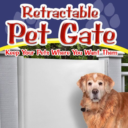 Retractable Pet Gate front-42452