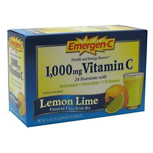 Emergen-C Lemon Lime, 30-Packets, 0.3-Ounce Boxes