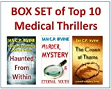 img - for BOX SET of THREE TOP 10 MEDICAL THRILLERS : Haunted from Within, Murder Mystery and Eternal Youth, Crown of Thorns book / textbook / text book