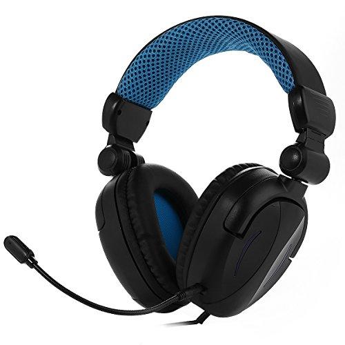 SHUNYINDA ゲーミングヘッドセット PS4 /PC/タブレット/部分スマートフォンに対応 BDS-363P (ブルー)