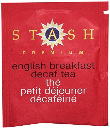 Stash Tea Decaf English Breakfast Black Tea, 100 Count Box In Foil
