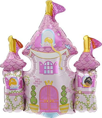 "14"" Foil Balloon Princess Castle - 1"