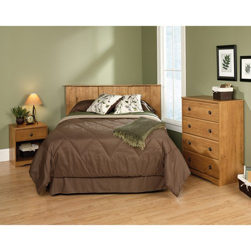 3 Pc Bedroom Furniture Set, Headboard, Chest With 4 Drawers And Nightstand Wood front-27485