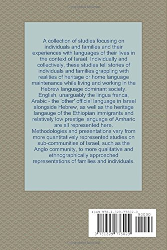 Family Language Policy: A collection of articles providing a glimpse into the Israeli experience through a sociolinguistic lens