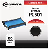 PC-501 PC501 Thermal Transfer Ribbon Cartridge, 150 Pages, Black, compatible with Brother