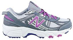 New Balance Women\'s WT410V4 Trail Shoe, Grey/Purple, 8.5 D US