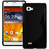 Phones Palace Black S-Line Gel Silicone Skin Case For LG P880 Optimus 4X HD