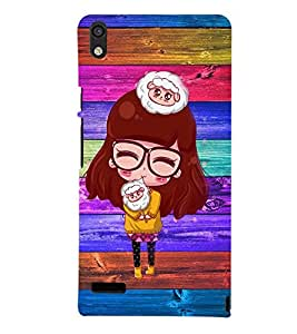 Fuson 3D Designer Back Case Cover For Huawei HONOR P6 / Huawei Ascend P6