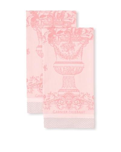 Garnier-Thiebaut Set of 2 Bird Garden Kitchen Towels, Rosa