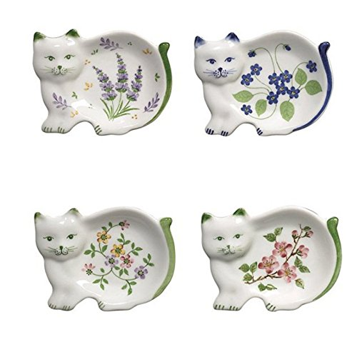 Why Choose Tea Bag Caddie Holders in Shape of a Cat, Set of 4