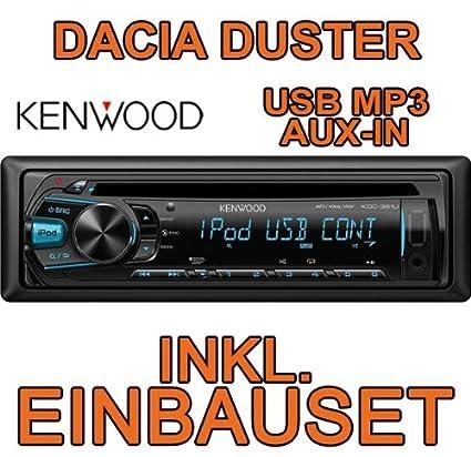 Kenwood KDC-361 U Kit de montage d'autoradio à encastrer CD/MP3/USB pour Dacia Duster