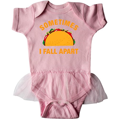 Inktastic Baby Girls' Tacos Fall Apart Infant Tutu Bodysuit 6 Months Pink (Pink Taco Shells compare prices)