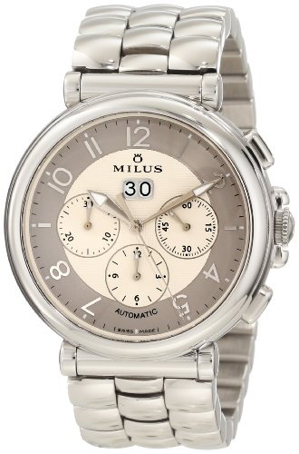 Milus Men's ZETC008 Stainless Steel with Beige Dial Watch