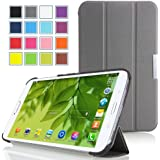 MoKo Samsung Galaxy Tab 3 8.0 Case - Ultra Slim Lightweight Smart-shell Stand Cover Case for Samsung Galaxy Tab 3 8.0 inch SM-T3100 / SM-T3110 Android Tablet, GRAY (with Smart Auto Wake / Sleep Feature. WILL NOT Fit Samsung Galaxy Tab 4 8.0)