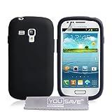 "Samsung Galaxy S3 Mini Tasche Galaxy S3 Mini Schwarz Silikon H�llevon ""Yousave Accessories�"""