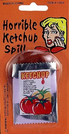 Set of 12-Fake Ketchup Spill
