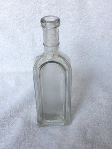 Vintage Old Cork Medicine Bottle #10 front-200669