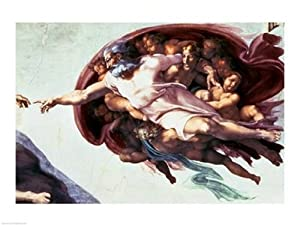 Sistine Chapel Ceiling Creation of Adam, 1510 Poster Print by Michelangelo Buonarroti (24 x 18)