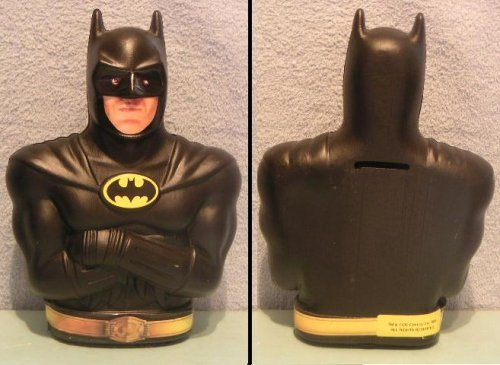 1989 Ralston Batman Bust Bank - 1