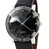 montre Mens,Vidlan Luxe Quartz Sport Dial cuir