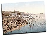 Canvas Reproduction Print, A Picture Of Ramsgate Sands, England, Wrapped Around A Thick Wooden Frame Of Approx. 22mm In Depth (Finished Size with Wrap, Approx. 25mm), Aproximate size 20 Inch x 15 Inch (50.8 cm x 38.1 cm)