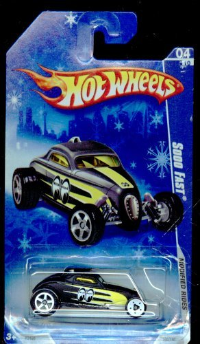 Hot Wheels 2009-160/190 Modified Rides 04/10 BLACK/YELLOW Sooo Fast on Snow Flake Card 1:64 Scale 1:64 Scale