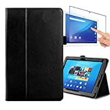 JIAHUI ソニー Sony Xperia Z4 Tablet ケース 液晶 保護 カバー au SOT31 ソニ エクスペリア tablet Z4 タブレットPC ケース スタンド カードポケット カバー docomo SO-05G case ガラス フィルム付き