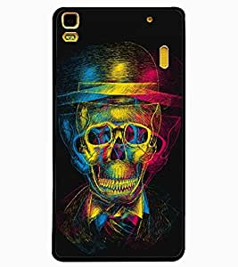 ColourCraft Funny Skull Design Back Case Cover for LENOVO A7000