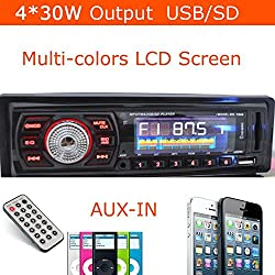 See Car Radio 1 DIN in Dash 12v Sd/usb Input Fm Tuner Stereo Mp3 Player Receiver Hot Details