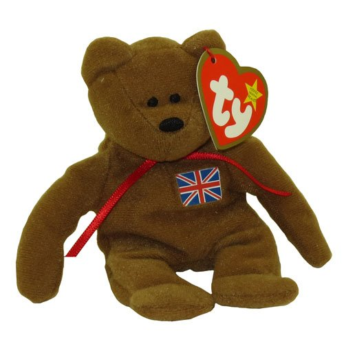 1 X TY Teenie Beanie Babies Britannia the Bear Stuffed Animal Plush Toy - 1